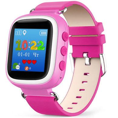 Детские часы с GPS Baby Watch Q60s розовые